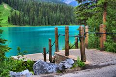 Lago esmeralda Fotos de archivo libres de regalías