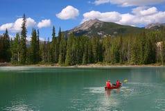 Lago esmeralda, parque nacional de Yoho, Canadá Fotos de archivo libres de regalías