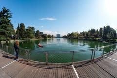 Lago eur a Roma dalla piattaforma Fotografia Stock