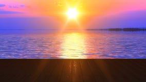 Lago fabuloso debajo del cielo rosado durante puesta del sol libre illustration