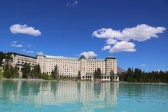 Lago famoso Louise Hotel chateau de Fairmont Fotografia de Stock