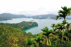 Lago famoso moon di Sun in Taiwan immagini stock