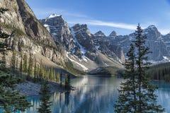 Lago famoso moraine Fotografia Stock Libera da Diritti