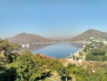 Lago Fatehsagar Foto de archivo