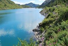 Lago Fedaia Imagem de Stock Royalty Free