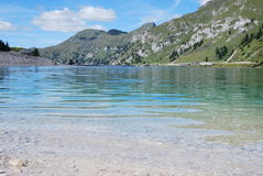 Lago Fedaia Foto de Stock Royalty Free