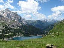 Lago Fedaia Fotografia de Stock
