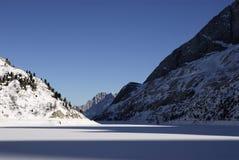 Lago Fedaia, Dolomites, Val di Fassa Stock Image