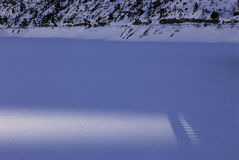 Lago Fedaia, Dolomites, Val di Fassa Royalty Free Stock Photo