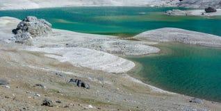 Lago Lago Fedaia Fedaia, valle de Fassa, Trentino Alto Adige, un lago artificial y una presa cerca de la ciudad de Canazei, situa imagen de archivo
