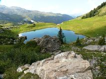 Lago feericamente em Beaufortin Foto de Stock