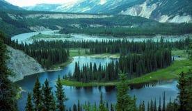 Lago a ferro di cavallo nell'Alaska Fotografia Stock Libera da Diritti