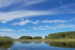 Lago finlandés Foto de archivo
