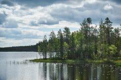 Lago finlandês fotografia de stock