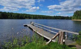 Lago finlandês Imagem de Stock