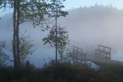 Lago in Finnland fotografie stock