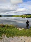 Lago fishing Immagini Stock Libere da Diritti