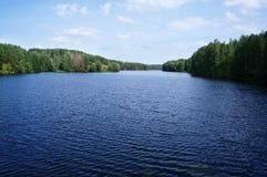 Lago fishing cerca del Samara, Rusia Foto de archivo libre de regalías