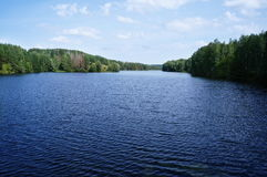 Lago fishing próximo do Samara, Rússia Foto de Stock Royalty Free