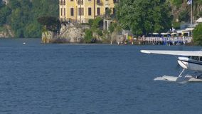 Lago Floatplane Como video d archivio