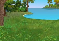 Lago forest Fotografia de Stock Royalty Free