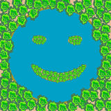 Lago forest com a cara de sorriso das ilhas Imagens de Stock Royalty Free