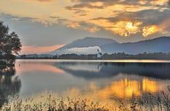 Lago Forggensee, Allgaeu, Baviera, Germania Fotografie Stock