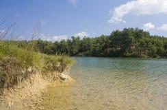 Lago in Francia fotografia stock