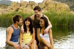 Lago friends Foto de Stock Royalty Free