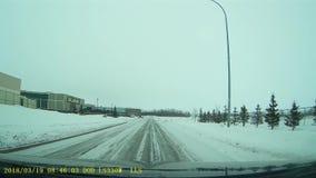 Lago frio Alberta Main Street video estoque