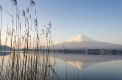 Lago Fuji Kawakuchiko da montanha Foto de Stock Royalty Free