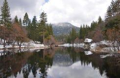 Lago Fulmor in inverno Immagini Stock