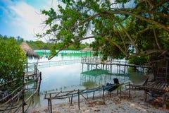 Lago Funadhoo, Maldivas fotos de archivo
