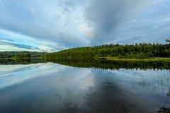 Lago Gagara sulla penisola di Kenai nell'Alaska Fotografia Stock