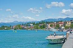 Lago Garda nella primavera Immagine Stock Libera da Diritti