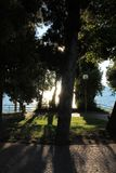 Lago Garda Sirmione Italia imagenes de archivo
