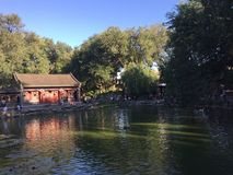 Lago garden no Pequim de Gongwangfu imagem de stock