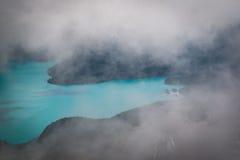 Lago Garibaldi desde arriba Imagenes de archivo