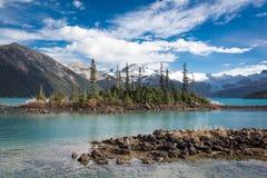 Lago Garibaldi perto do assobiador Imagens de Stock Royalty Free