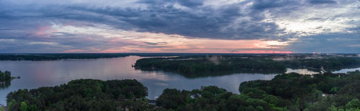 Lago Gaston Sunset Fotos de archivo