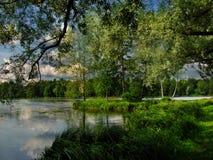 Lago Gatchina imágenes de archivo libres de regalías