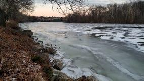 Lago gelado imagem de stock