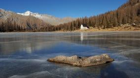 Lago gelado imagens de stock