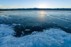 Lago gelado spring imagem de stock royalty free
