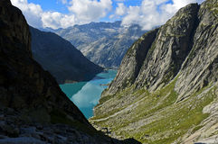 Lago Gelmersee water reservoir Fotografia de Stock Royalty Free