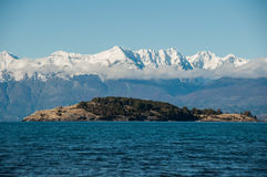Lago generał Carrera, Carretera Austral, autostrada 7, Chile Fotografia Stock