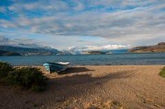 Lago generał Carrera, Carretera Austral, autostrada 7, Chile Obrazy Royalty Free