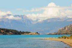 Lago general Carrera. imagens de stock