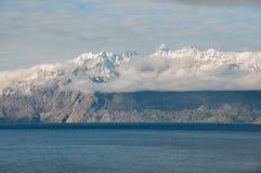 Lago general Carrera, Austral Carretera, huvudväg 7, Chile arkivbilder