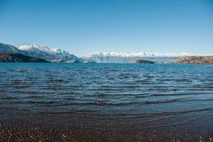 Lago general Carrera, Austral Carretera, huvudväg 7, Chile Royaltyfria Bilder